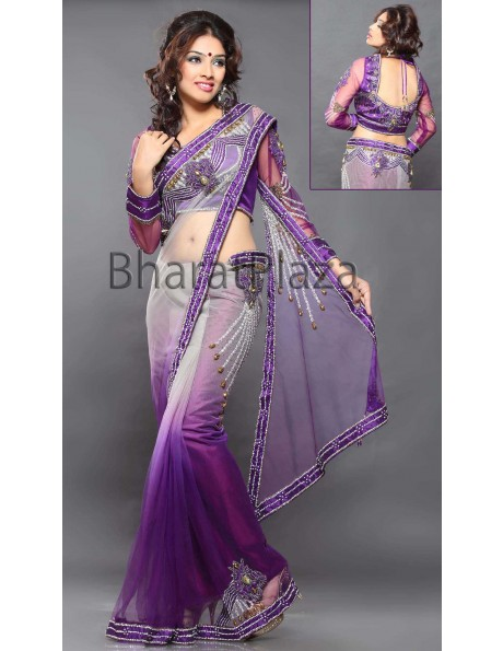 Magnetic Ready Pleated Saree Item code : SKD2492